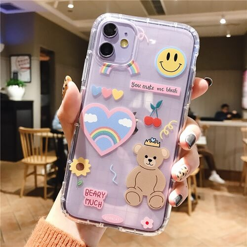 Cartoon Bear Phone Case For iPhone 11 Pro Max