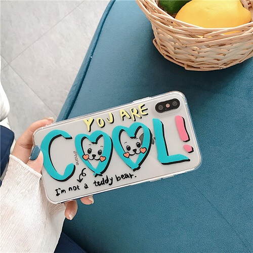 Cool Drawing Art Clear Phone Case doe iPhone