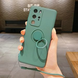Dark Green Liquid Silicone Gel Phone Case for samsung galaxy s20 Ultra