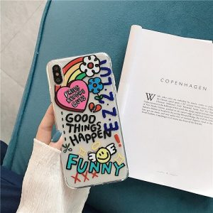 Funny Drawing Art Clear Phone Case for iPhone