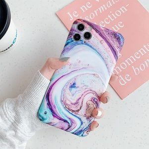 GOLD WAVE MARBLE PHONE CASE FOR IPHONE