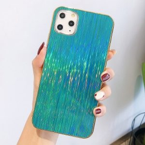 Green Glossy Holographic Phone Case For iPhone