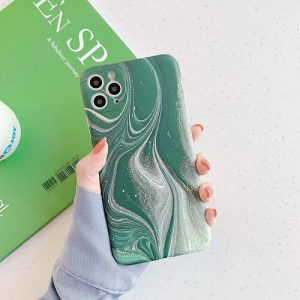 Green Marble phone Case for iPhone Xs Max