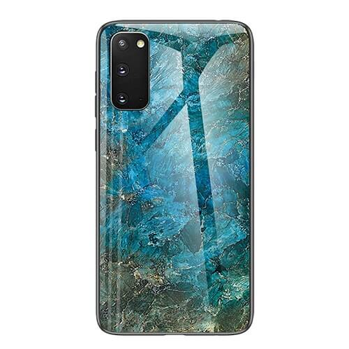 Marble Glass Phone Case for samsung galaxy s20, s20 plus, s20 ultra