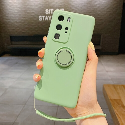 Mint Green Liquid Silicone Gel Phone Case for samsung galaxy s20 Plus