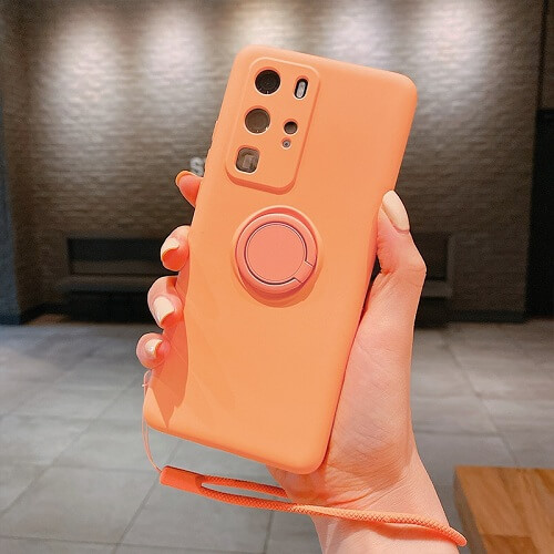 Orange Liquid Silicone Gel Phone Case for samsung galaxy s20
