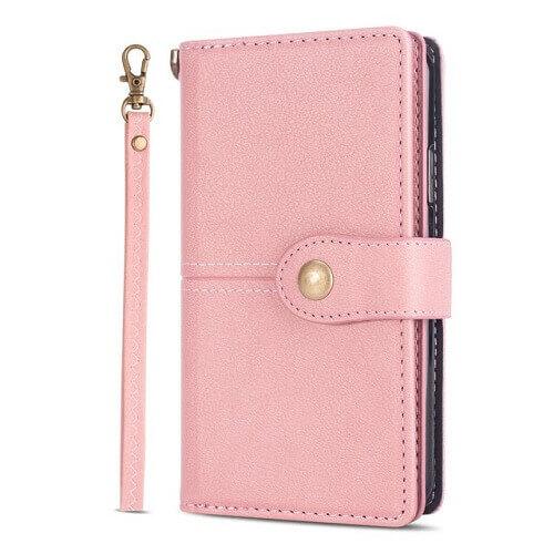 Pink samsung s20 plus flip wallet case