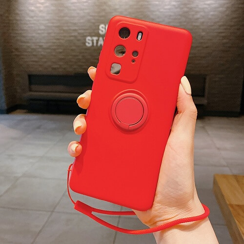 Red Liquid Silicone Gel Phone Case for samsung galaxy s20 Plus
