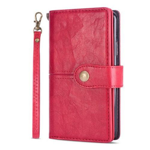 Red samsung galaxy s20 ultra flip wallet case
