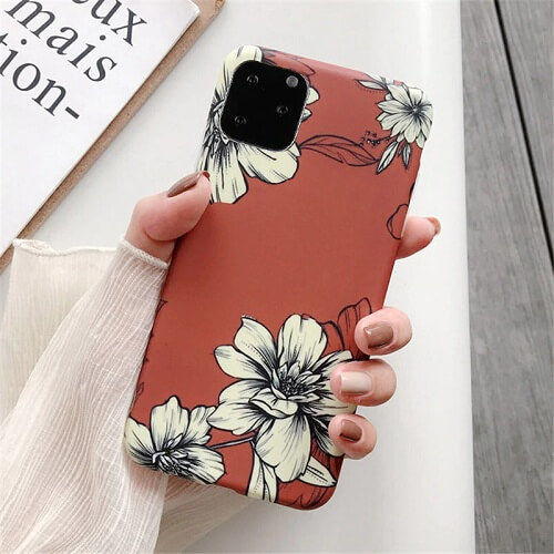 Watercolor Retro Flower Phone Case For iPhone 11
