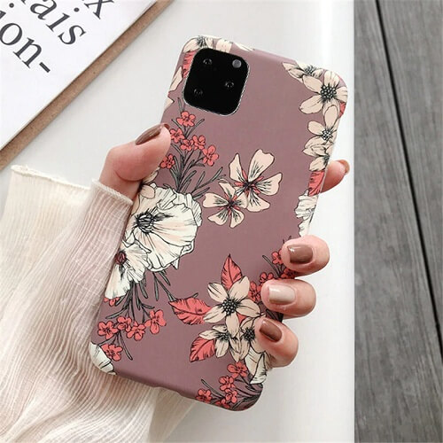 Watercolor Retro Flower Phone Case For iPhone Xs Max