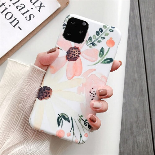 Watercolor Retro Flower Phone Case For iPhone
