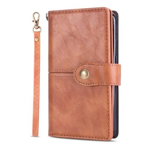 brown galaxy s20 flip wallet case