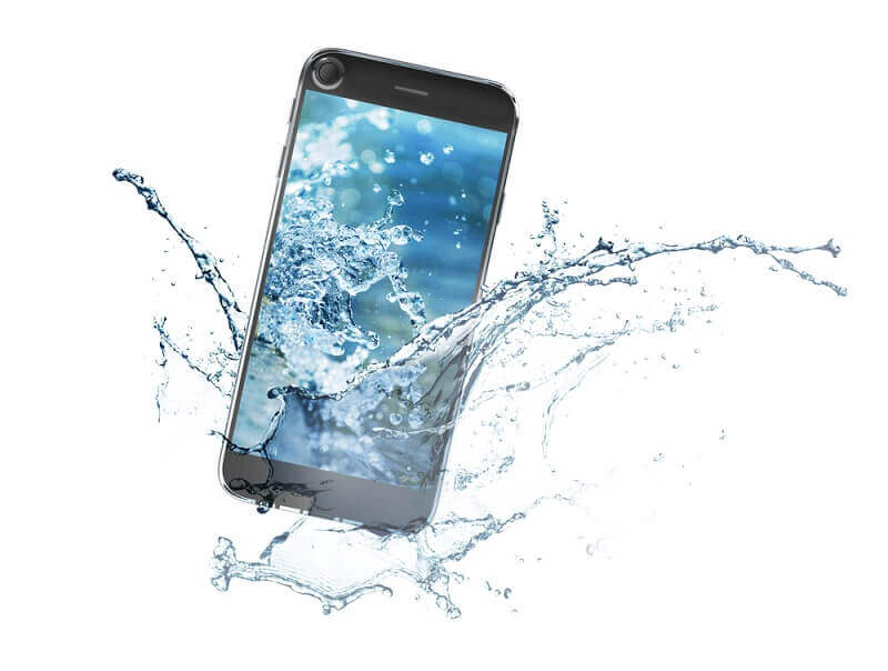 3D infographie - what to do if your dropped your phone in water