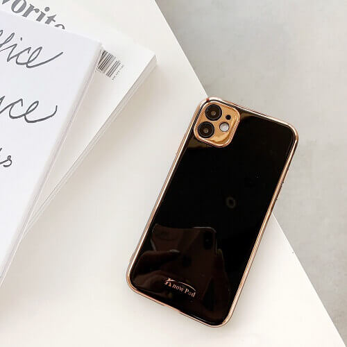 Black gold plated phone case