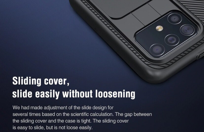 SLIDING COVER. SLIDE EASILY WITHOUT LOOSENING