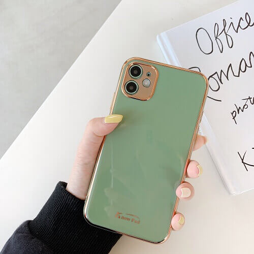 Light Green gold plated phone case