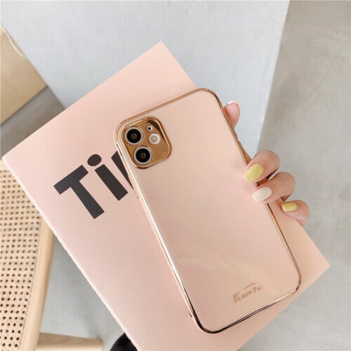 Pink gold plated phone case