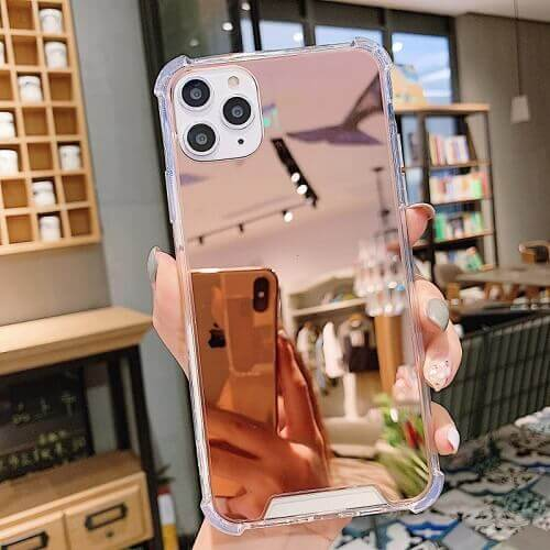 Shockproof Makeup Mirror Phone Case For iPhone 11 Pro Max, Xs, Xr, X