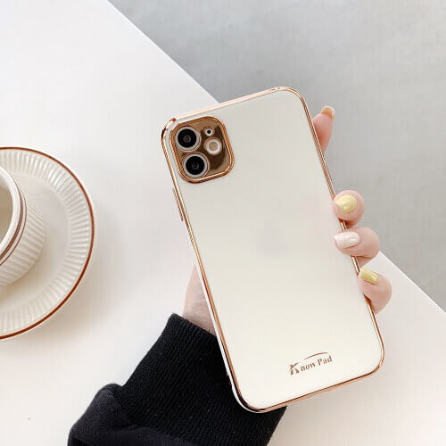 White gold plated phone case