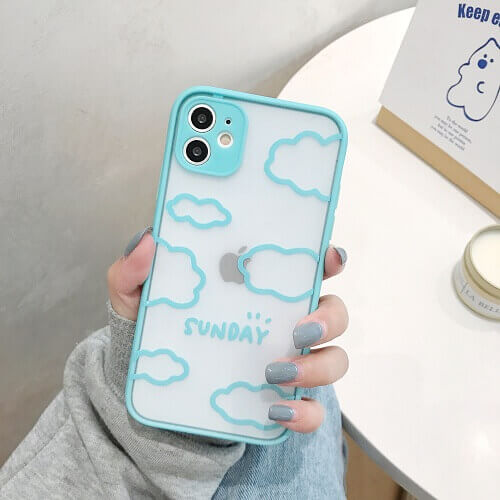 sky blue clouds phone case