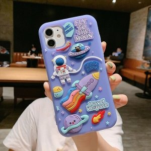 3D Space Astronaut Phone Case