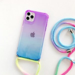 Gradient Rainbow Phone Case With Neck Cord 1