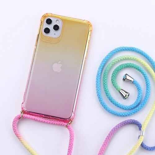 Gradient Rainbow Phone Case With Neck Cord 2