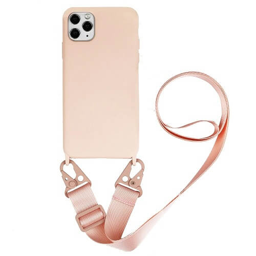 Silicone iPhone Case with Crossbody Strap