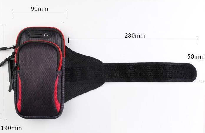 Arm Phone Holder Dimentions