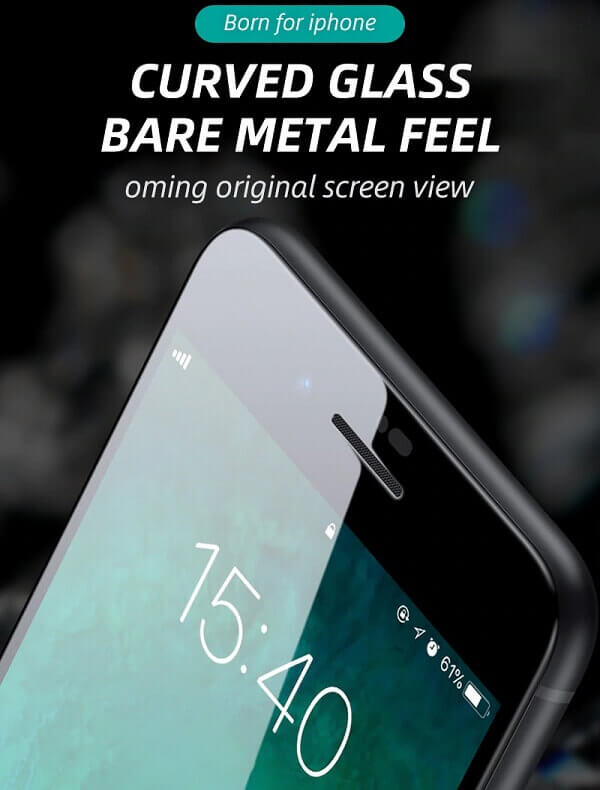 Curved tempered glass - original screen view