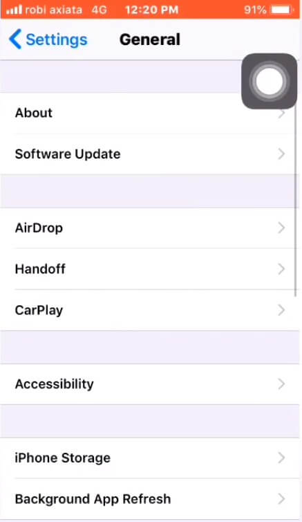Go to General to Update Your iPhone