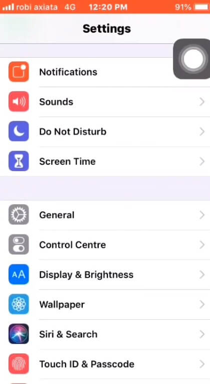 Go to settings to Update Your iPhone