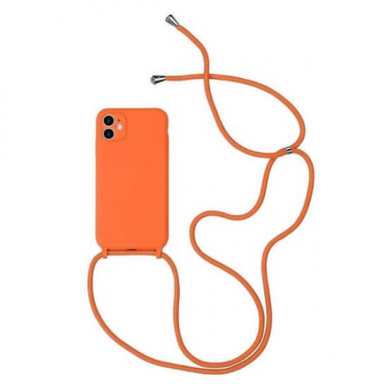 Orange phone Case With a Lanyard
