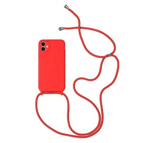 Red phone Case With a Lanyard