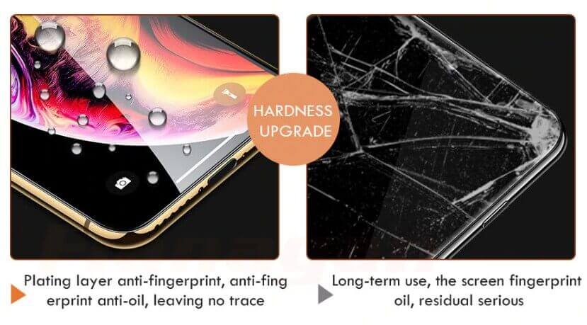Upgraded to 10h: hardness of the iPhone Xs screen protector