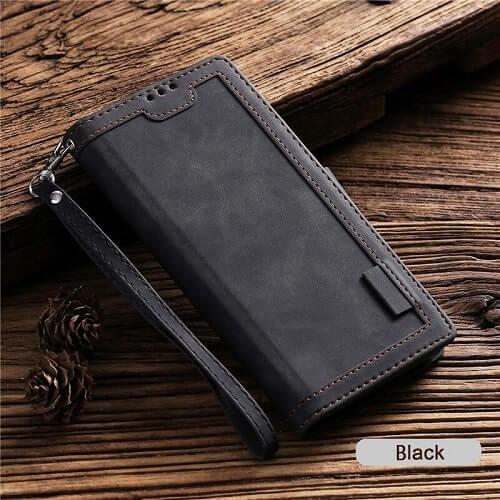 Black Handmade Leather iPhone 11 Case