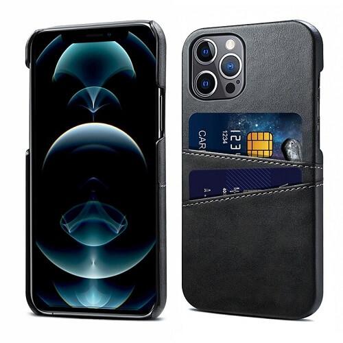 Black Leather iPhone 12 Pro Max Case