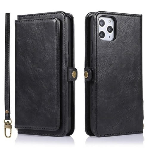 Black iPhone 11 Pro Detachable Magnetic Wallet Case