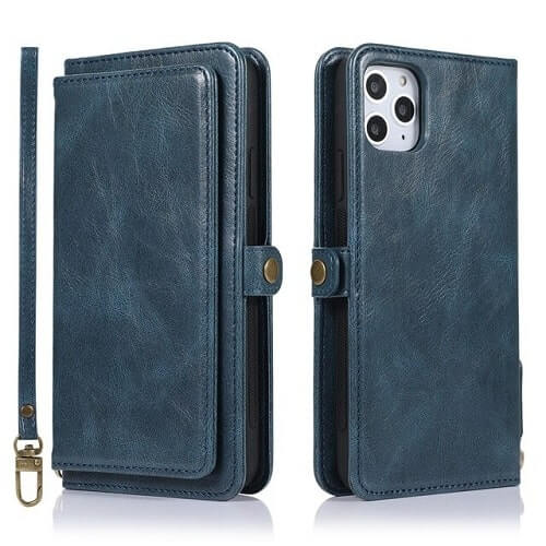 Blue iPhone 11 Pro Detachable Wallet Case