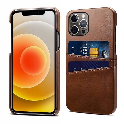 Brown Leather iPhone 12 Pro Max Case