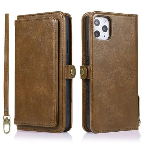 Brown iPhone 11 Pro Detachable Wallet Case