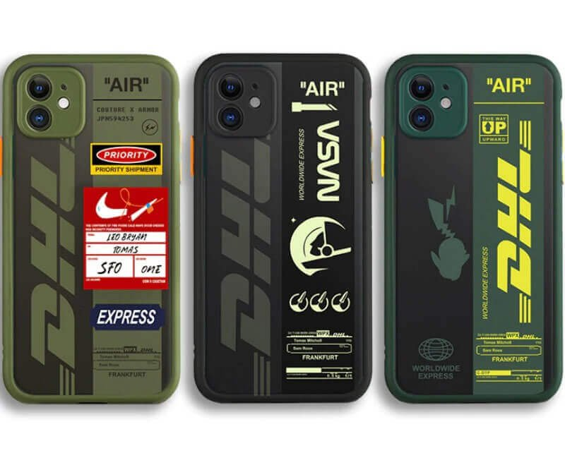 DHL express air ticket phone case For iPhone 11 Pro Max