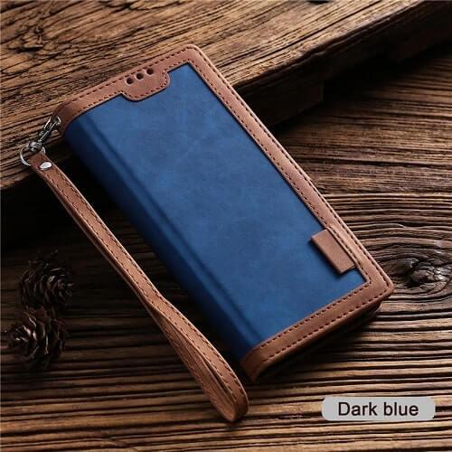 Dark Blue Handmade Leather iPhone 11 Case