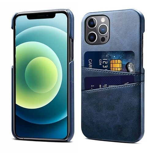 Dark Blue Leather iPhone 12 Pro Max Case