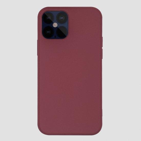 Drak Red Liquid Silicone iPhone 12 Pro Case