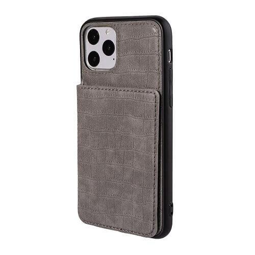 Gray iPhone 11 pro crocodile wallet case