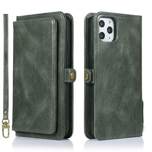 Green iPhone 11 Pro Detachable Magnetic Wallet Case