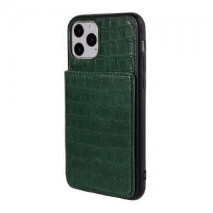 Green iPhone 11 pro max crocodile wallet case