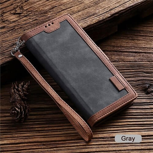 Grey Handmade Leather iPhone 11 Pro Max Case